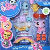 Littlest Pet Shop Rollin' Fun Park Gift Pack - Includes Pet #2043 and #2044 - Ages 4 and Up