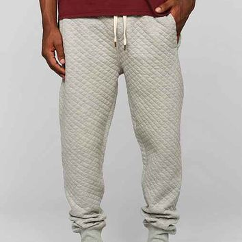 Native Youth Quilted Jogger Pant - Grey