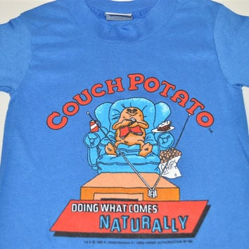 80s Couch Potato Doing What Comes Naturally t-shirt Youth Small