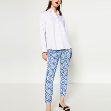 SKINNY SATEEN TROUSERS - View All-TROUSERS-WOMAN | ZARA United States