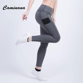 CAMINANA Pants Women  High Waist Pant Casual Women Tights Full Length Women's Pants Ladies Fitness Trousers Sweatpants