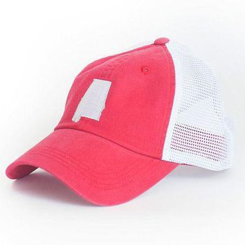 Alabama Tuscaloosa Gameday Trucker Hat in Crimson by State Traditions