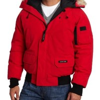Canada Goose Men's Chilliwack Front-Zip Jacket with Fur Trimmed Hood