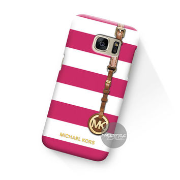 Michael Kors Jet Set Striped Pink Samsung Galaxy Case Cover Series