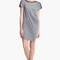 C & C California Faux Leather Trim Asymmetrical Dress (Online Only)   Nordstrom