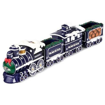 Baltimore Ravens NFL Resin Decorative Holiday Train Set