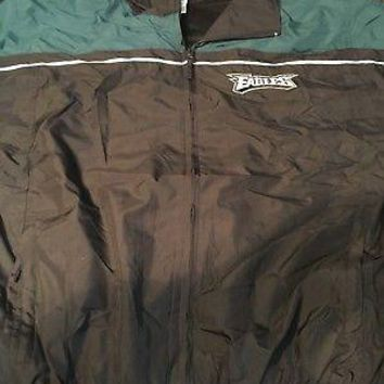 PHILADELPHIA EAGLES YOUTH XL (18-20) FULL ZIP LIGHT WEIGHT JACKET SHIPPING