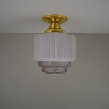 Antique Purple Skyscraper Flush Mount Light