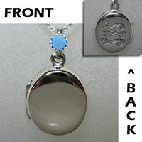 H20 Just Add Water Small Locket Necklace like H2O Mermaids Sterling Silver 925