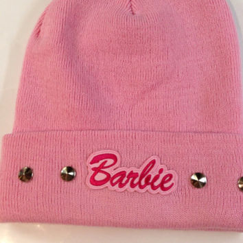 BARBIE BEANIE HAT studded or unstudded - 6 colours