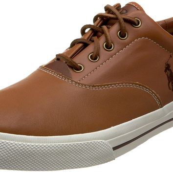 Polo Ralph Lauren Men's Vaughn Leather Sneaker Tan Leather 11 D(M) US '