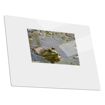 Bullfrog In Water Metal Panel Wall Art Landscape - Choose Size by TooLoud