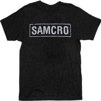 Sons of Anarchy SAMCRO Banner Black Adult T-shirt  - Sons of Anarchy - | TV Store Online