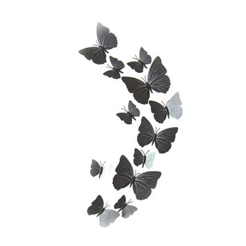 12pcs 3D Butterfly Magnet Set Realistic Decal Wall Stickers with Sponge Gum and Pin
