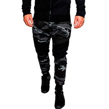 Podom Camouflage Casual Slim Fit Men's Sweatpants