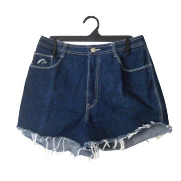High Waste Shorts High Waist Shorts High Waisted Denim Shorts High Waisted Jean Shorts High Wasted Short Jordache Shorts Frayed Shorts Blue