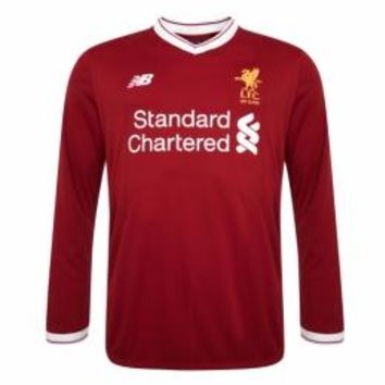 17-18 Liverpool Home Long Sleeve Jersey Shirt