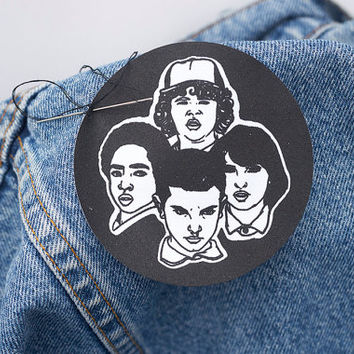 Stranger Things Fabric Sew On Patch // badge, the upside down, geek gift, eleven