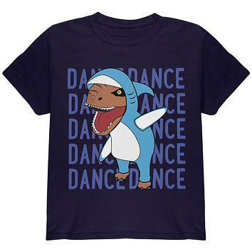 Halloween T-Rex Left Shark Costume Dance Youth T Shirt