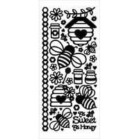 Dazzles Stickers-Honey Bees - Black