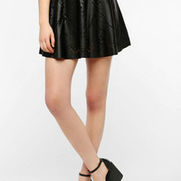Urban Outfitters - B.P.Collection Faux Leather Cutout Circle Skirt