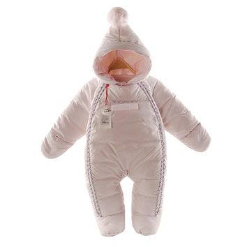 Baby Rompers Newborn Baby Girl boy Thermal 90% Duck Down Winter Snowsuit Baby Cute Hooded Jumpsuit Newborn Baby Clothes Ski Suit