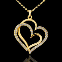 Gold Love Heart Necklace