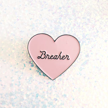 Heartbreaker enamel pin, Heart enamel pin, Lapel pin, Enamel pin,Heart lapel pin, Heart pin, Flair,Pin badge, Heart button, Heart brooch