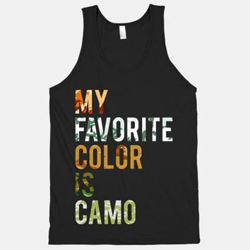 My Favorite Color is Camo (American Apparel Tank Top)