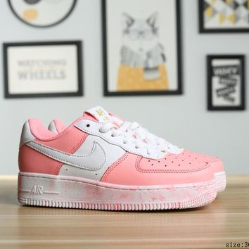 [ Free  Shipping ]   Nike Air Force 1 Pink  Running  Shoes