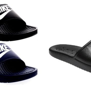 adult Nike Benassi or Kawa Flip Flops Sandals Pool Slippers Beach Shoes Sliders