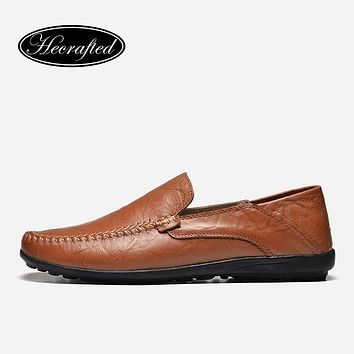 Men Casual Shoes Full Grain Leather Fashion Handmade HE CRAFTED Men Loafers