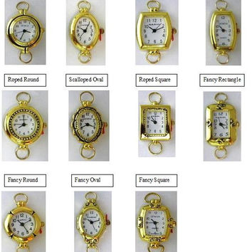 Watch Face,Narmi and Geneva Gold Looped Watch Faces,Beading Watch Face-1 Piece