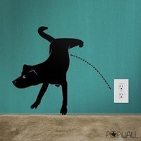 Vinyl Wall Sticker Decal  Naughty Dog Pissing   013 by NouWall