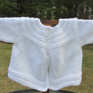 White Baby Sweater