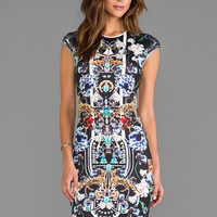 Clover Canyon Gold Panther Dress in Multi