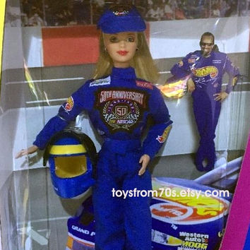 Barbie Special Edition Nascar 50th Anniversary collector doll, NIB, never opened