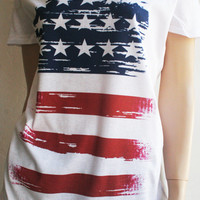 4th of July - Southern Girl - American Flag T-Shirt - Red White and Blue - Patriotic Pride - FREE SHIPPING in the USA