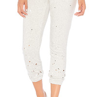 Chaser Relaxed Paint Splatter Lounge Pant in Heather Grey