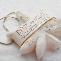 Dope on a Rope Soap - Vanilla Mocha Mint Hemp Soap on a Rope - Birthday Gift - Hippie Retro Bohemian Vintage Gifts VALENTINES SALE