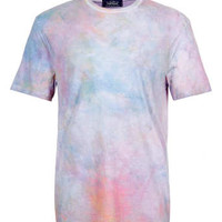 PINK WASHED LOW ROLL T-SHIRT - Men's T-shirts & Tanks  - Clothing