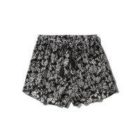 Printed Drapey Shorts