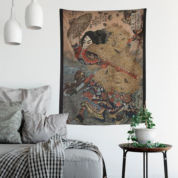 Japanese Art Suikoden - Japanese Warrior Tapestry