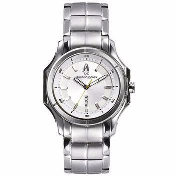 HUSH PUPPIES MEN'S SILVER DIAL STAILESS STEEL WATCH HP.3629M.1522