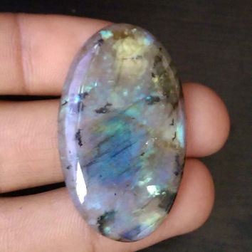 Natural labradorite Smooth Oval Cabochon 43x25x5 MM Size, Loose Gemstone Beads fire labradorite gemstone