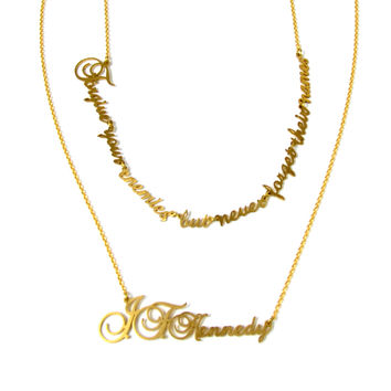 Forgive But Don't Forget Brass Necklace