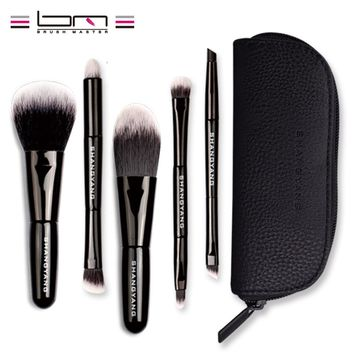 BM Brand 5Pcs Studio Makeup Brushes Synthetic Natural Hair Conveniently Portable Mini Make Up Brush Set A8-15