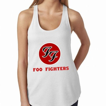 Foo Fighters Rock Band Logo Cool band ever White Tank Top, Lady Women Fit Tee, Sweater Hoodie Tshirt Tank Top