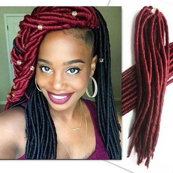 Cheap bundles Synthetic crochets braids locs hair eunice crochet hair janet collection havana mambo fauxlocs braid 18 faux dreads hair