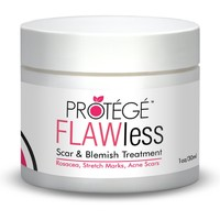 FLAWless Scar Gel Cream - Best for Removal of New and Old Acne and Surgery Scars - Flattens and Softens Scars, Keloids, Blemishes - Guaranteed Better than Scar Oil (1 oz)